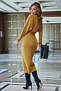 Элегантное платье женское р. от 42 до 48, вязка цвета горчица, фото 6