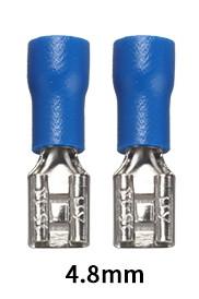 """Конектор плоский FDD 2-187(8) з частковою ізоляцією """"мама"""" (1,5-2,5 мм2/4,8-0,8 мм)"""
