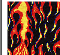 Ткань принт Повар Огонь Полоса Посуда Хребты