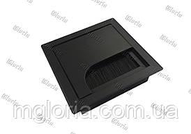 Заглушка для проводов черная 80х80 мм