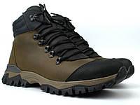 Зимние оливковые кожаные ботинки на овчине мужская обувь Rosso Avangard Lomerback 2 Olive Sigma Leather, фото 1