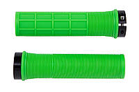Грипсы RockBros PVC, зеленые с черными замками