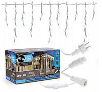 Новогодняя гирлянда бахрома 5,5 м 100 LED (Холодный белый с холодной белой вспышкой)