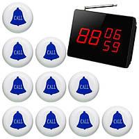 Cистема вызова официанта: табло-приемник на 3 номера и 10 кнопок, фото 1