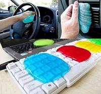 Гель лизун очиститель для чистки клавиатуры, автомобиля Super Clean, фото 1