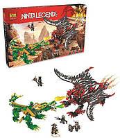 Конструктор Jemlou Ninja Legend Битва драконов, 1005 деталей - 183515