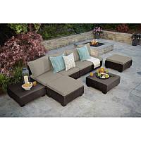 Набор садовой мебели Sapporo Lounge Set Brown ( коричневый ) из искусственного ротанга, фото 1