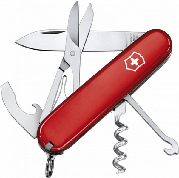 Нож складной, мультитул Victorinox Compact (91мм, 15 функций), красный 1.3405