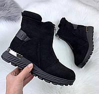 Ботинки зимние замшевые, фото 1