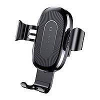 Автодержатель Холдер Baseus Wireless Fast Charger Gravity Car Mount (WXYL-01) Black