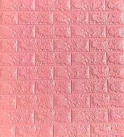 Самоклеющиеся обои Декоративная 3D панель ПВХ под розовый кирпич