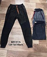 Спортивные штаны на флисе для мальчиков оптом, Glo-story, 134-164 см,  № BRT-9176, фото 1