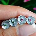 Серебряные серьги гвоздики Сакура - Сакура серьги пуссеты серебро, фото 5
