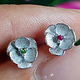 Серебряные серьги гвоздики Сакура - Сакура серьги пуссеты серебро, фото 10