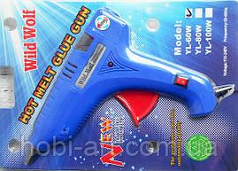 Термопістолет D-11мм. №2. 60W. синій
