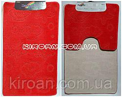"""Набор ковриков для ванной """"Maximus"""", производство Турция 100*60 см + 50*60 см (цвет красный)"""