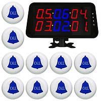 Cистема вызова официанта: табло-приемник на 6 номеров и 10 кнопок