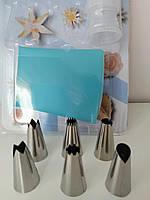 Набор насадок 6 шт с силиконовым мешком и переходником, фото 1