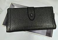Кошелек клатч женский темно-серебристый, блестящий, фото 1