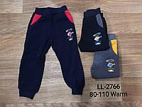 Спортивные штаны на флисе для мальчиков оптом, Sincere, 80-110 см,  № LL-2766, фото 1