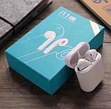 Беспроводные Bluetooth наушники i11 в стиле Apple AirPods сенсорные с кейсом для зарядки., фото 7