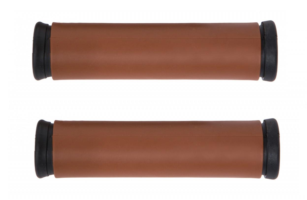 Грипсы (ручки руля) TPR XH-118, коричневые