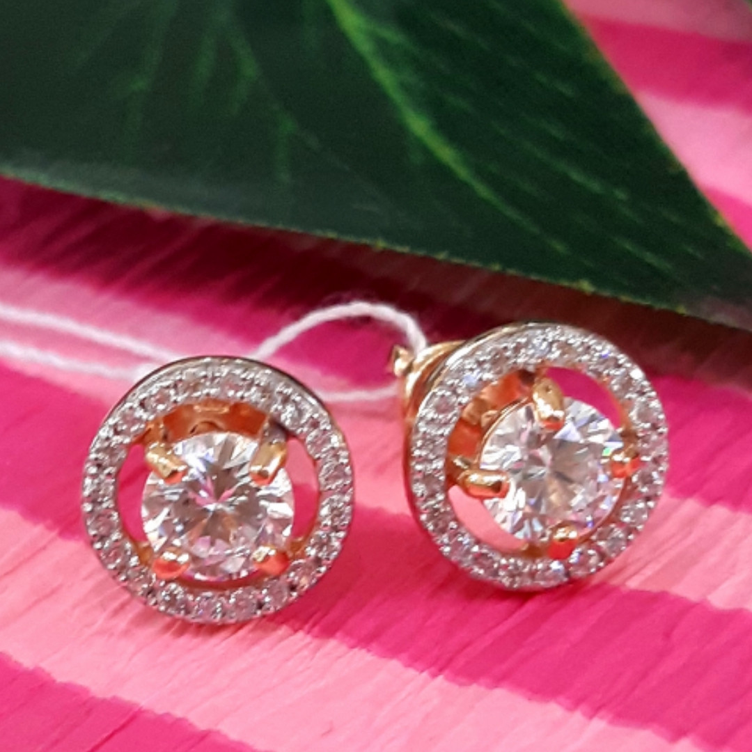 Серебряные серьги-пуссеты с позолотой - Серьги гвоздики серебряные с позолотой