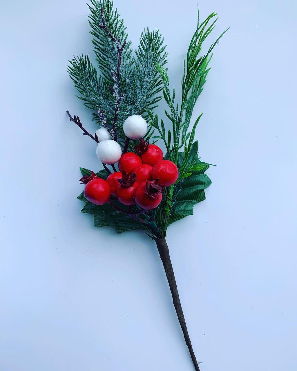 Новогоднее украшение.Бутоньерка новогодняя(22 см)