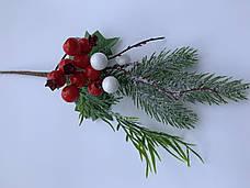 Новогоднее украшение.Бутоньерка новогодняя(22 см), фото 3