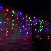Новогодняя гирлянда бахрома 5,5 м 100 LED (Многоцветная с холодной белой вспышкой), фото 3