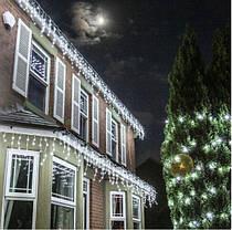 Новогодняя гирлянда бахрома 5,5 м 100 LED (Холодный белый с холодной белой вспышкой), фото 3