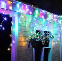Новогодняя гирлянда бахрома 23,5 м 500 LED (Многоцветная с холодной белой вспышкой), фото 2