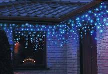 Новогодняя гирлянда бахрома 18,5 м 500 LED (Холодный белый с синей вспышкой), фото 2