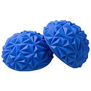 Полусфера массажная балансировочная риф синий
