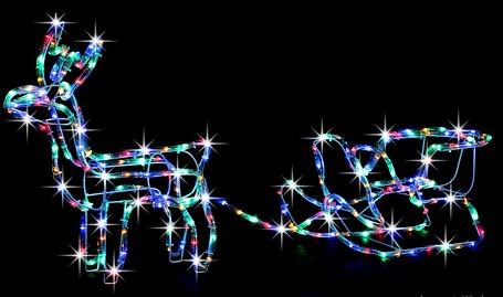 """Новогодняя гирлянда """"Олень"""" 123 см (Разноцветный + флеш), фото 2"""