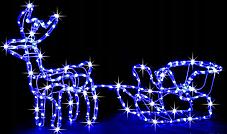 """Новогодняя гирлянда """"Олень"""" 123 см (Разноцветный + флеш), фото 3"""