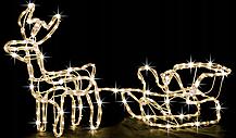 """Новогодняя гирлянда """"Олень"""" 123 см (Голубой + флеш), фото 2"""