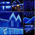 Новогодняя гирлянда бахрома 5,5 м 100 LED (Синий цвет с холодной белой вспышкой), фото 7