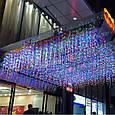 Новогодняя гирлянда бахрома 9,5 м 200 LED (Многоцветная с холодной белой вспышкой), фото 5