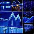 Новогодняя гирлянда бахрома 14 м 300 LED (Синий с холодной белой вспышкой), фото 6