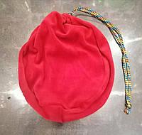 Чехол для гимнастического мяча (красный велюр)
