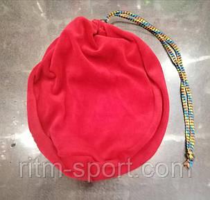 Чехол для гимнастического мяча (красный велюр), фото 2