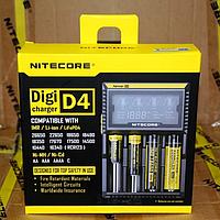 Оригинальное зарядное Nitecore D4 на 4 акк ЖК экран Li-Ion 18650 зарядка, фото 1