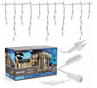 Новогодняя гирлянда бахрома 5,5 м 100 LED (Холодный белый с холодной белой вспышкой), фото 1