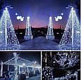 Новогодняя гирлянда 8 м 100 LED (Холодный белый), фото 5