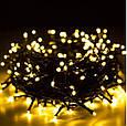 Новогодняя гирлянда 8 м 100 LED (Теплый белый), фото 2
