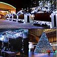 Новогодняя гирлянда 14,5 м 200 LED (Холодный белый цвет), фото 4