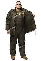 """Зимний теплый костюм для охоты и рыбалки """"Таслан олива-хаки"""" - (в наличии все размеры 44-66)"""