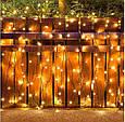 Новогодняя гирлянда 14,5 м 200 LED (Теплый белый цвет), фото 7
