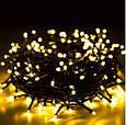 Новогодняя гирлянда 14,5 м 200 LED (Теплый белый цвет), фото 9